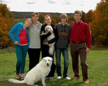 Three Islands Veterinary Services - Bobcaygeon, ON - Our Veterinarians Dr. Robbie Heather, Dr. Dave Heaton and family
