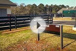 Buckley Fence at UGA College of Veterinary Medicine